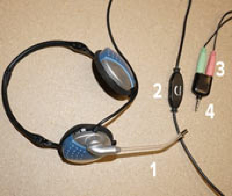 headphones showing microphone, multijack, and volume control