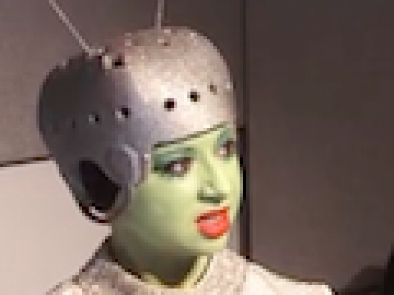 Still from Latino Pop Culture video showing professor as alien