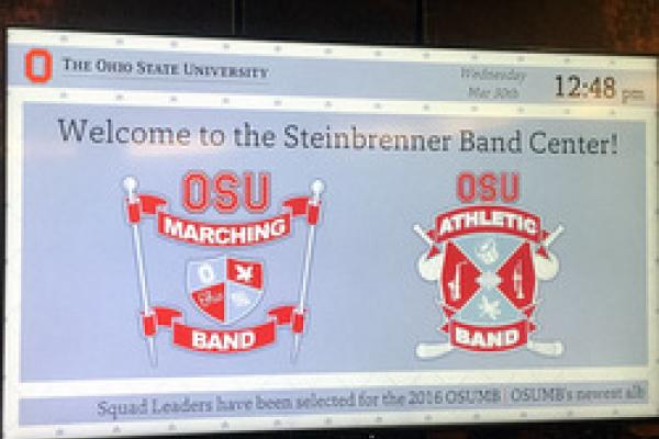 Digital Signage at Band Center